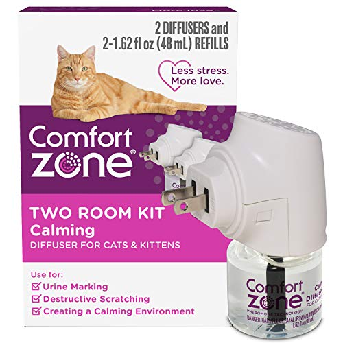 Comfort Zone Cat Calming Diffuser Reduces Anxiety, Scratching, Spraying and...