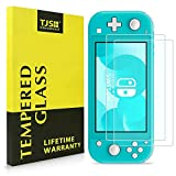 Nintendo Switch Lite Screen Protector, TJS [Tempered Glass] [2-Piece] [Works While Docking] - 0.3mm Thickness/Bubble Free/Ultra Clear/9H Hardness/Anti-Scratch/Shatterproof/Anti-Fingerprint (Clear)