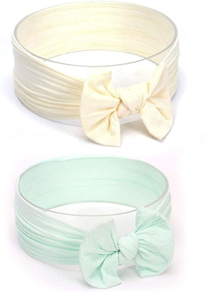 YONGYAN 2 PCS Baby Girl Max 70% OFF Bowknot Headbands Ban Elastics ...