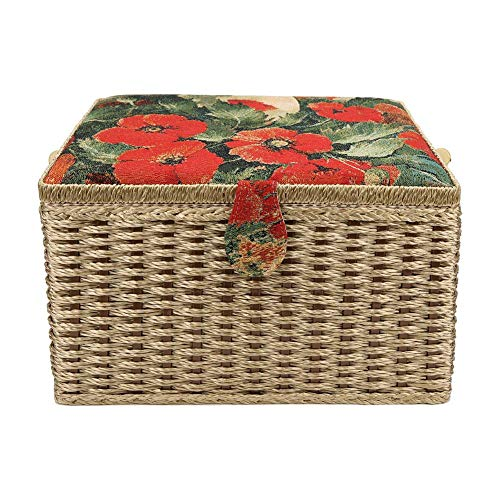 Best Price Junluck Sewing Storage Box, Sewing Basket, Large European Hand-Made Knitting Tool Organiz...