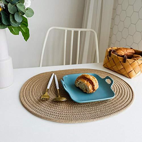 Avin Keuken ovaal katoenen linnen placemat eettafel isolatie pad drank onderzetter onderzetter kom mat thuis decor