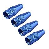 Futheda 4 pcs Bleu Jante de Roue de vélo Pneu Tige Air Bouchons de Valve poussière Coque en...