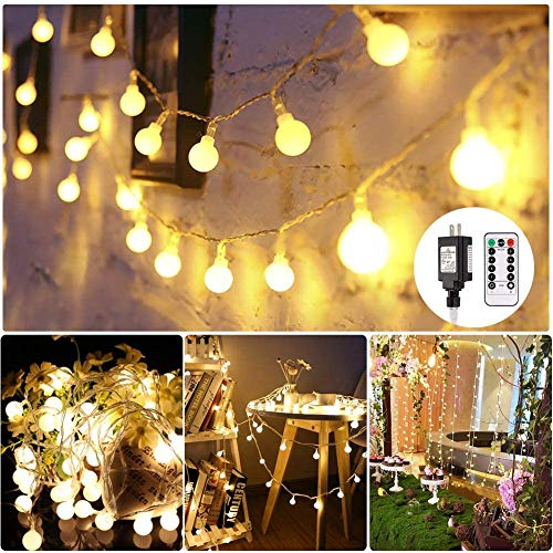 GREEMPIRE LED String Lights, 100 LED Outdoor Globe String Lights Waterproof UL...