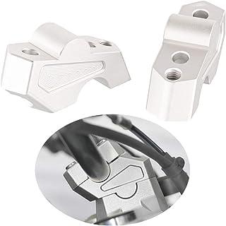 Motorrad Lenkererhöhung Verstellhalterungen Lenkerverlegung aus Aluminium Zubehör für F750GS 2018 2019 (Silber)