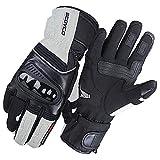 guanti moto,Guanti da motociclista guanti da motociclismo invernali impermeabili caldi cavalieri guanti anti-caduta grigio chiaro b
