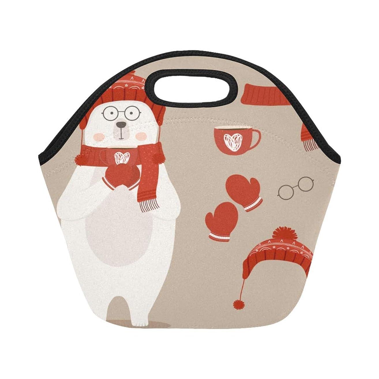 サーマル不健全ミルクDMHYJ ランチバッグ かわいいクマや帽子 弁当袋 お弁当入れ 保温保冷 トート 弁当バッグ 大容量 トートバッグ