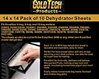 GOLD TECH 食品脱水シート - 柔軟で再利用可能でサイズ変更可能なトレイライナー ノンスティックベーキングマット - フードドライヤーシート - プレミアム14インチ×14インチ Excalibur 2400 10枚セット