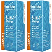 DMIGHT Pool Test Strips, 6-in-1 Water Quality Test Strips, Spa Test Strips for Hot Tubs - Total Chlorine, Free Chlorine, pH, Total Alkalinity, Cyanuric Acid, Total Hardness. (2 Pack)