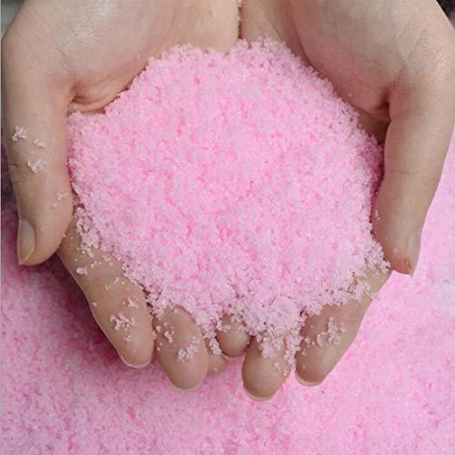 tnd Neve Artificiale Colorata Rosa in Cristalli 5 Confezioni da 100g Neve Finta Pink Snow 500g per Decorazioni addobbi Natalizi lavoretti Fai da Te presepe Albero di Natale