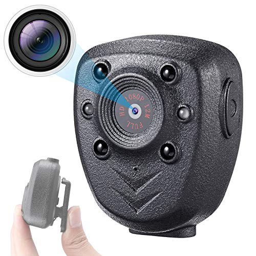 Mini Body Camera Built-in 32GB Memory Card, Small Wearable Police Cam with Night Vision, HD1080P, Pocket Clip, 5 Hours Working Time for Home, Office, Law Enforcement, Security Guard, Sports