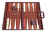 Middleton Games Tournament Backgammon Set - 21 in. - Classic Brown