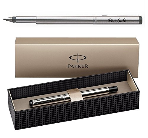 Parker Vector Stylo plume à pointe moyenne en acier inoxydable Gravure personnalisable