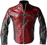 Icon Pro - Chaqueta de motociclista de piel roja y negra | Chaqueta | All Sizea -  Rojo -  Large