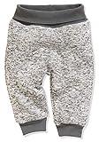Schnizler Unisex Baby Pumphose Strickfleece mit Strickbund Jogginghose, Grau (Grau 33), 86