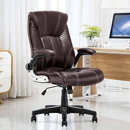 YAMASORO Chefsessel, klappbar, Armlehnen, ergonomisch, Massagesessel, braun,...