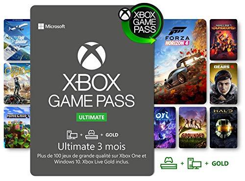 Abonnement Xbox Game Pass Ultimate   3 Mois   Xbox/Win 10 PC - Code jeu à télécharger