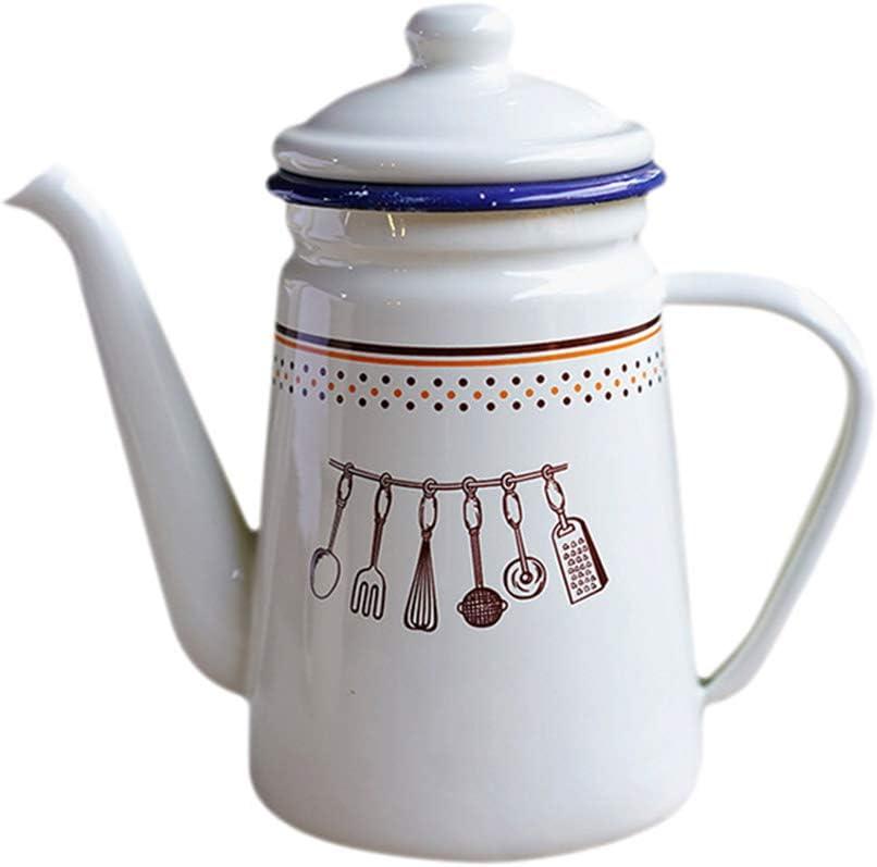 Guizhou New popularity Enamel Outdoor Camping 5 ☆ popular Hot Coffee home K Vintage Pot Tea