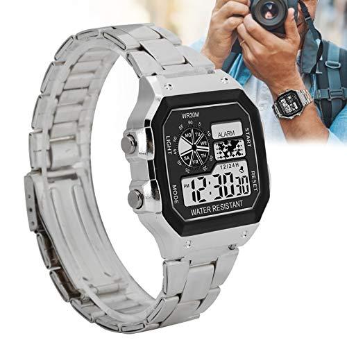Reloj digital electrónico Reloj de pulsera deportivo con luz nocturna impermeable Reloj...