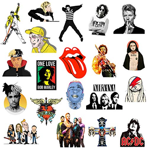 Later Rock singer graffiti sticker skateboard suitcase computer guitar helmet sticker/Elvis/Coldplay50PCS