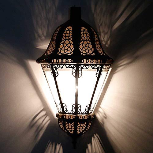Orientalische Wandleuchte marokkanische Wandlampe Beluti Transparent   Kunsthandwerk aus Marrakesch   Schöne Wandbeleuchtung & Dekoration   L1554