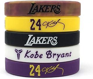 Basketball Kobe Inspirational Signature Motivation Wristbands Sport Silicone Bracelet (5 Pack)