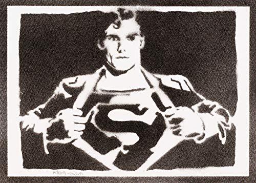 Superman Poster Plakat Handmade Graffiti Street Art - Artwork