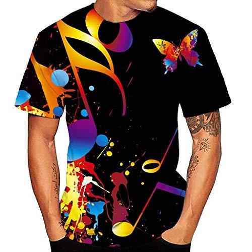 Camisetas Estampada 3D Verano Moda Camiseta de Manga Corta I