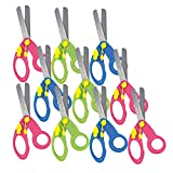 Maped Spring-Assisted Educational Blunt Tip Scissors for Children, Pack of 10, Right and Left-Handed Use