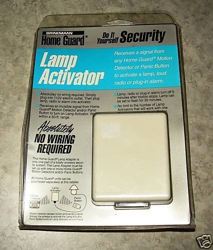 Brinkmann Lamp Activator for Home Guard Security System