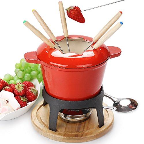 Hierro fundido fondue set fondue hierro fundido -Set