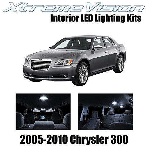 Xtremevision Interior LED for Chrysler 300/300C 2005-2010 (12 Pieces) Pure White Interior LED Kit + Installation Tool