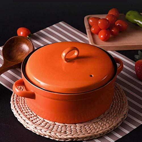 Keramik-Eintopf mit Deckel Auflauf mit Antihaftbeschichtung 15 l Slow Cooker für 2-3 Personen Geschenk zur Einweihungsfeier Orange