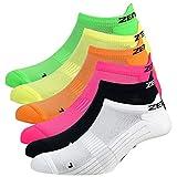 Zen Core Sneaker Füßlinge 6 Paare, Größe 40-43 & 44-47 für Herren, kurze Socken, SportundFreizeit, Laufsocken, Fitness, Fahrradfahren, Running Socken, Atmungsaktiv, Gepolstert, Antiblasen