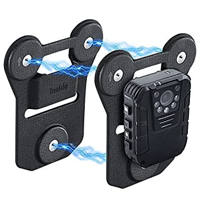 Body Camera Magnetic Mount, Universal Strong Suction Magnet Mount Holder, Stick to Clothes for All Brand Body Cams with Wearable Clips