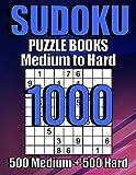 1000 Sudoku Puzzles 500 Medium & 500 Hard: Suduko Puzzle Books For Adults,Brain...