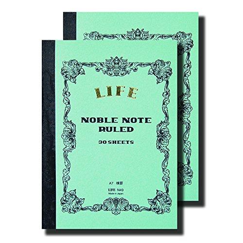 ライフ ノーブルノート A7 横罫 N49 2冊セット
