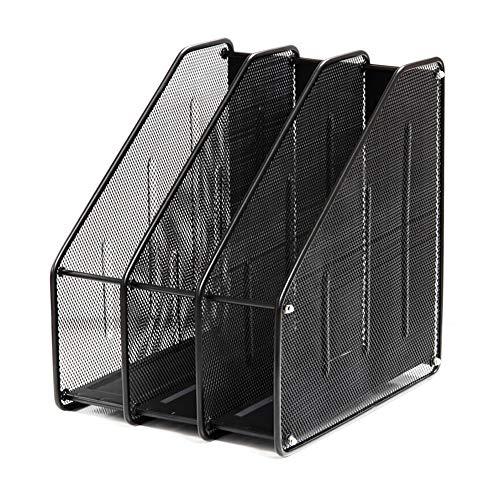 Compartiment magazine rack de stockage box office magazine rack storage box de stockage rack en fer forgé moderne style minimaliste fichier classification salle de classe module titulaire A4 papier,L