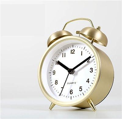 Relojes de alarma Guyuan Despertador Creativa lámpara Luminosa muda Lisa Estudiante Minimalista Cama Reloj Perezoso pequeño