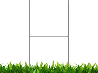 Bundled Pack of 100 Quantity Heavy Duty Metal 15-inch H-Stakes