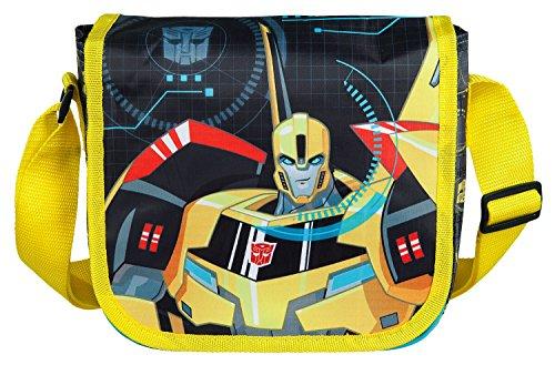Undercover TFUV7293 - Kindergartentasche zum Umhängen, Transformers mit Bumblebee Motiv, ca. 21 x 22 x 8 cm