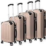 KESSER® 4tlg. Reisekoffer Hartschalenkofferset Hard Shell Basic Hartschalenkoffer Trolley Koffer