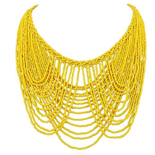 Bocar Collar de declaración de múltiples capas colorido collar de cuentas babero collar de soiree para el regalo de las mujeres (NK-10490)