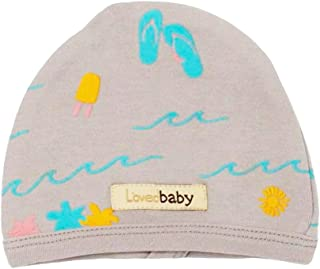 قبعة أطفال عضوية للأطفال من الجنسين من L'ovedbaby (رمادي فاتح، 6-12 شهرًا)