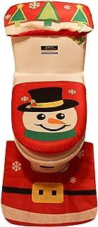 Decoración de Navidad,Dragon868 3PCS Navidad WC cubierta