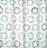 Spirella 10.16730 Textil-Duschvorhang Tory Sand Beige, 180 x 200 cm