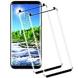 Miuphro[2-Unidades Cristal Templado Compatible con Samsung Galaxy S8, Fácil Instalación+ 2.5d Borde Redondo+ Alta Definicion+ 9H Dureza, Protector de Pantalla Samsung Galaxy S8