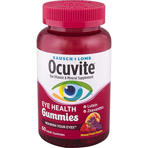 Bausch + Lomb Ocuvite Eye Health Gummies with Lutein, Zeaxanthin and other Antioxidants, 60 Count Bottle