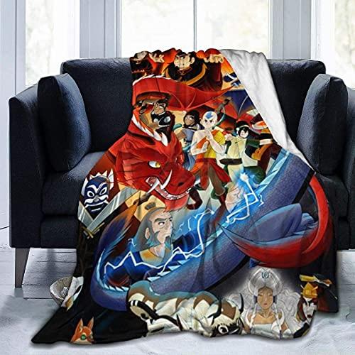 Manta de franela Avatar The Last Airbender cubre manta para cama sofá sala de estar verano