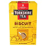 Yorkshire Tea Biscuit Brew Tea Bags, Pack of 4 (total of 160 tea bags)
