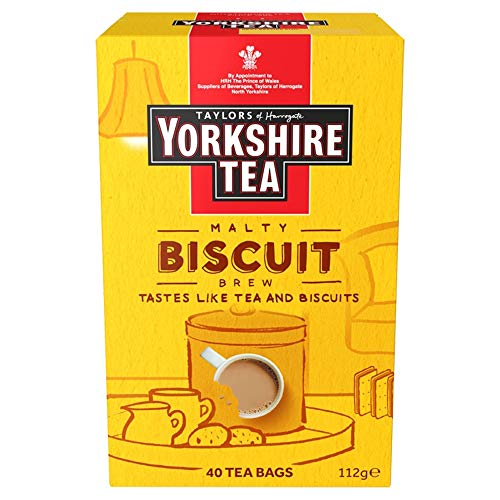 Yorkshire Tea Biscuit Brew Flavoured Tea Bags, Pack of 4 (Total 160 Tea...